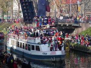 Sinterklaas on a boat