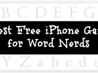 5 Best Free iPhone Games  for Word Nerds via The Book Wheel