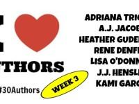 #30Authors: Week 3 Schedule