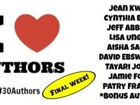 #30Authors: Final Week Schedule