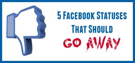 5 facebook statuses
