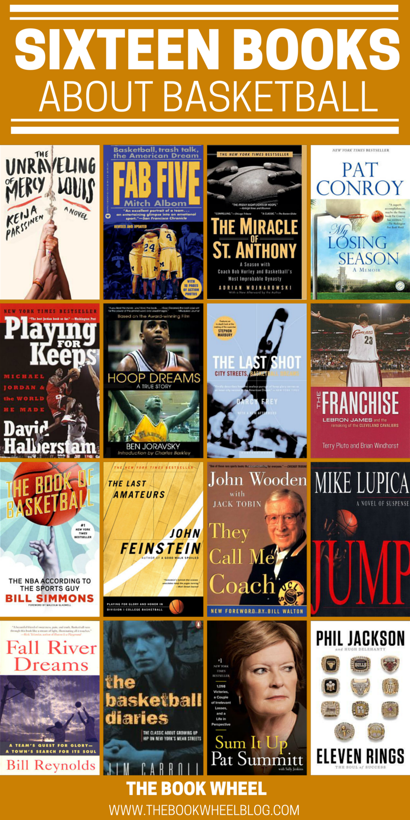sixteen books about basketball